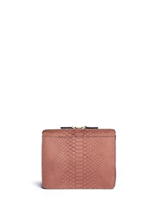 Back View - Click To Enlarge - ZAGLIANI - 'Liberty' python crossbody bag