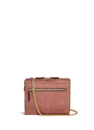 Main View - Click To Enlarge - ZAGLIANI - 'Liberty' python crossbody bag