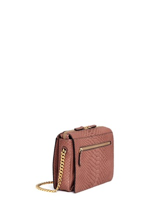 Figure View - Click To Enlarge - ZAGLIANI - 'Liberty' python crossbody bag