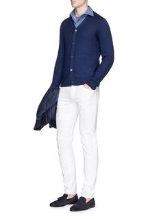 ISAIA'Como' blur print woven cotton shirt