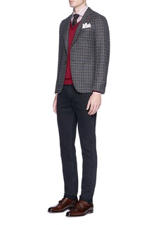 ISAIA 'Cortina' check plaid wool blazer
