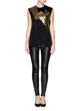Figure View - Click To Enlarge - 3.1 Phillip Lim - Sequin paillette silk fringe top