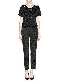 3.1 PHILLIP LIM Strass silk crepe A-line top