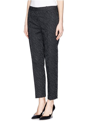 Front View - Click To Enlarge - 3.1 Phillip Lim - Abstract wave jacquard cropped pencil pants