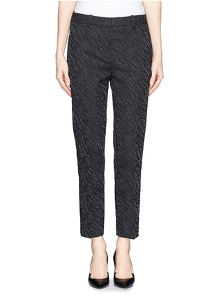 Main View - Click To Enlarge - 3.1 Phillip Lim - Abstract wave jacquard cropped pencil pants
