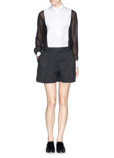 3.1 PHILLIP LIM Abstract wave jacquard pleat shorts
