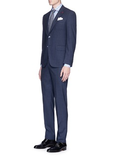 ISAIA 'Gregory' micro check wool suit