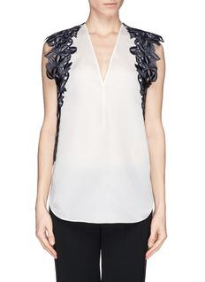 3.1 PHILLIP LIMGuipure lace silk organza blouse