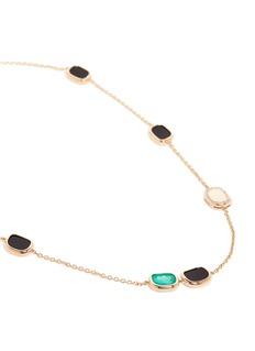 Roberto Coin'Black Jade' diamond amphibole agate 18k rose gold necklace