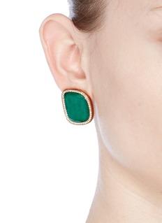 Roberto Coin'Black Jade' diamond agate 18k rose gold earrings