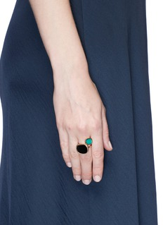 Roberto Coin 'Black Jade' amphibole jade agate 18k rose gold ring
