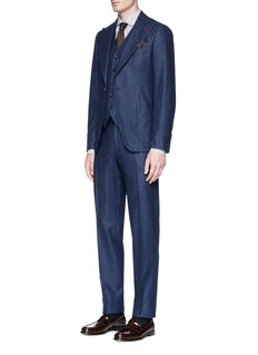ISAIA 'Ferdinando' stripe wool suit