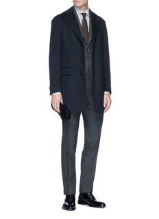 ISAIA 'Colorado' cashmere long melton coat