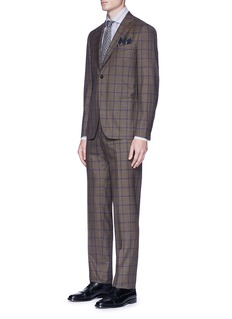 ISAIA 'Cortina' windowpane check wool suit