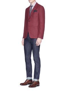 ISAIA'Cortina' wool-cashmere herringbone blazer