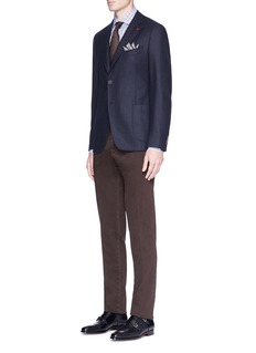 ISAIA'Cortina' wool-cashmere hopsack blazer