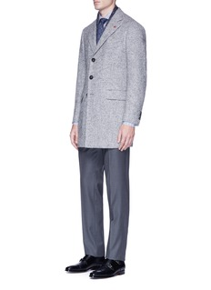 ISAIA 'Colorado' brushed tweed coat