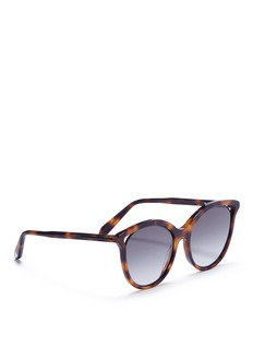 Victoria Beckham 'Cut Away Kitten' tortoiseshell acetate cat eye sunglasses