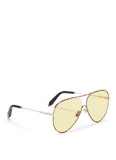 Victoria Beckham 'Loop Aviator' tortoiseshell metal sunglasses