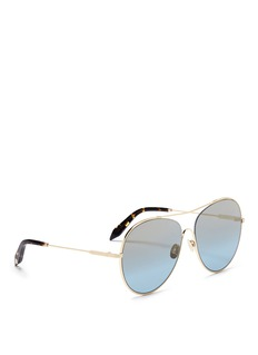 Victoria Beckham 'Loop Round' metal aviator sunglasses