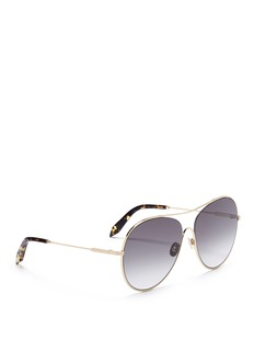 Victoria Beckham 'Loop Round' metal aviator sunglasses