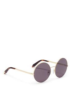 Victoria Beckham'Supra Round' metal sunglasses