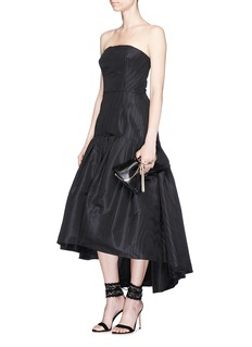 Oscar de la Renta Silk faille strapless peplum dress