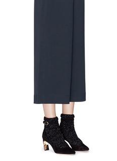 Nicholas Kirkwood 'Lola Pearl' confetti sock knit suede pumps