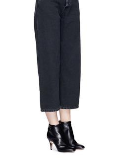 Nicholas Kirkwood 'Penelope' faux pearl heel leather boots
