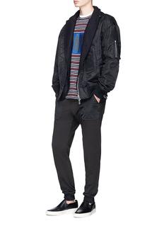 Comme Des Garçons Homme 'HOMME' box print stripe knit T-shirt