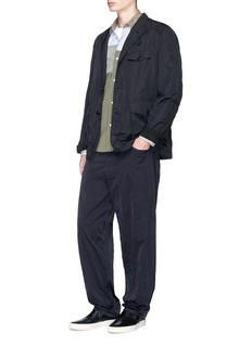 Comme Des Garçons Homme Relaxed fit nylon chinos
