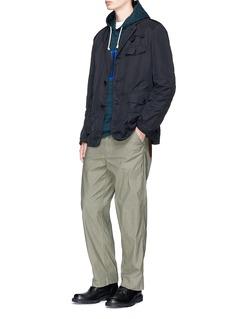 Comme Des Garçons Homme Garment dyed soft hunter blazer