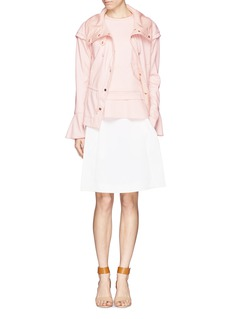 CHLOÉ Cap shoulder flare cuff drawstring jersey parka