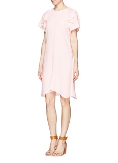 CHLOÉRuffle silk crepe dress