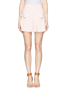 CHLOÉRuffle silk crepe shorts