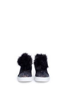 Sam Edelman 'Bella Hira' pompom glitter kids sneakers