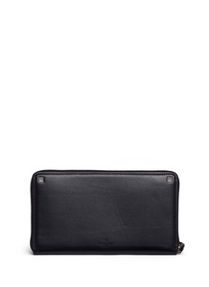 ValentinoHand strap leather continental wallet
