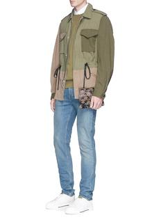 Valentino'Camustars' nylon zip pouch
