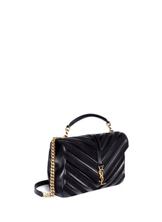 Saint Laurent 'Collège' large matelassé leather chain bag