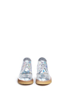 STELLA MCCARTNEY KIDS 'Wendy' glitter star appliqué mirror kids wedge boots