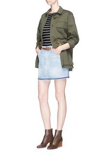 Frame Denim'Le Mini' frayed denim skirt