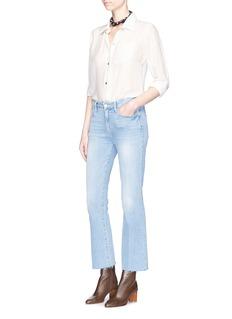 Frame Denim 'Le Crop Mini Boot' frayed cuff flared jeans