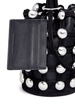 - Alexander Wang  - 'Roxy' round stud mini caged leather bucket bag