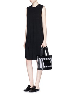 Alexander Wang  Leather panel woven stripe tote