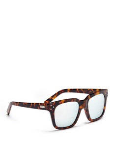 Spektre 'Pitti' tortoiseshell acetate square mirror sunglasses