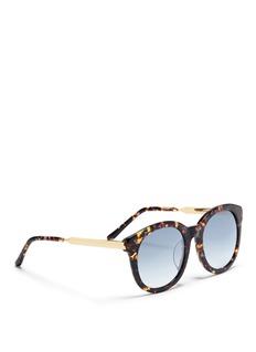 Spektre 'Isabel 2' tortoiseshell acetate round mirror sunglasses