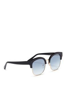 SPEKTRE Skyfall板材拼接金属镜面太阳眼镜
