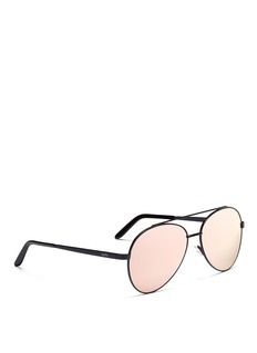 Spektre 'Domina' matte metal mirror aviator sunglasses