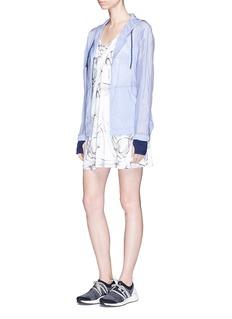 Calvin Klein Performance Smoke print cross strap reversible dress