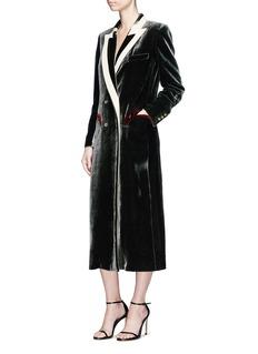 Blazé Milano 'Jealousy Smoke' velvet double breasted blazer dress